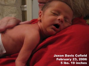 just a few days after Jaxon made his debut!