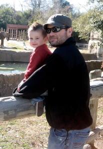 Jaxon and Justin at the Waco Zoo