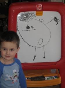 Jaxon at 3 years...what an artist!