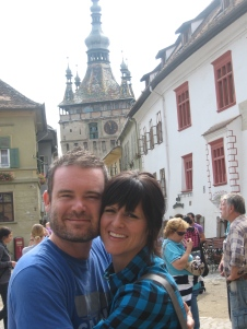 Us visiting the citadel in Sighisoara...this citadel is the only citadel in Europe where people still live!