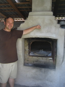 Pastor Florin and the bread oven his church as built in the village church to make bread for their gypsy friends during the cold winter months...opening many doors for them to share the LOVE of Jesus!