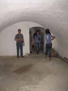 The basement of the village church that they want to make in to a soup kitchen...just waiting on God to provide the money!